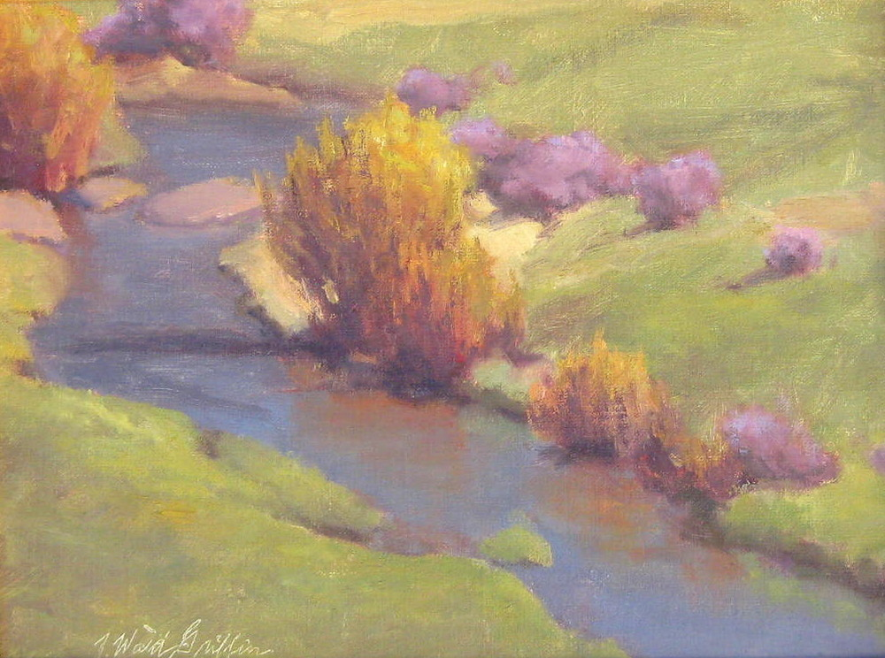 Willows and Mahogony 9x12 oil on linen $500